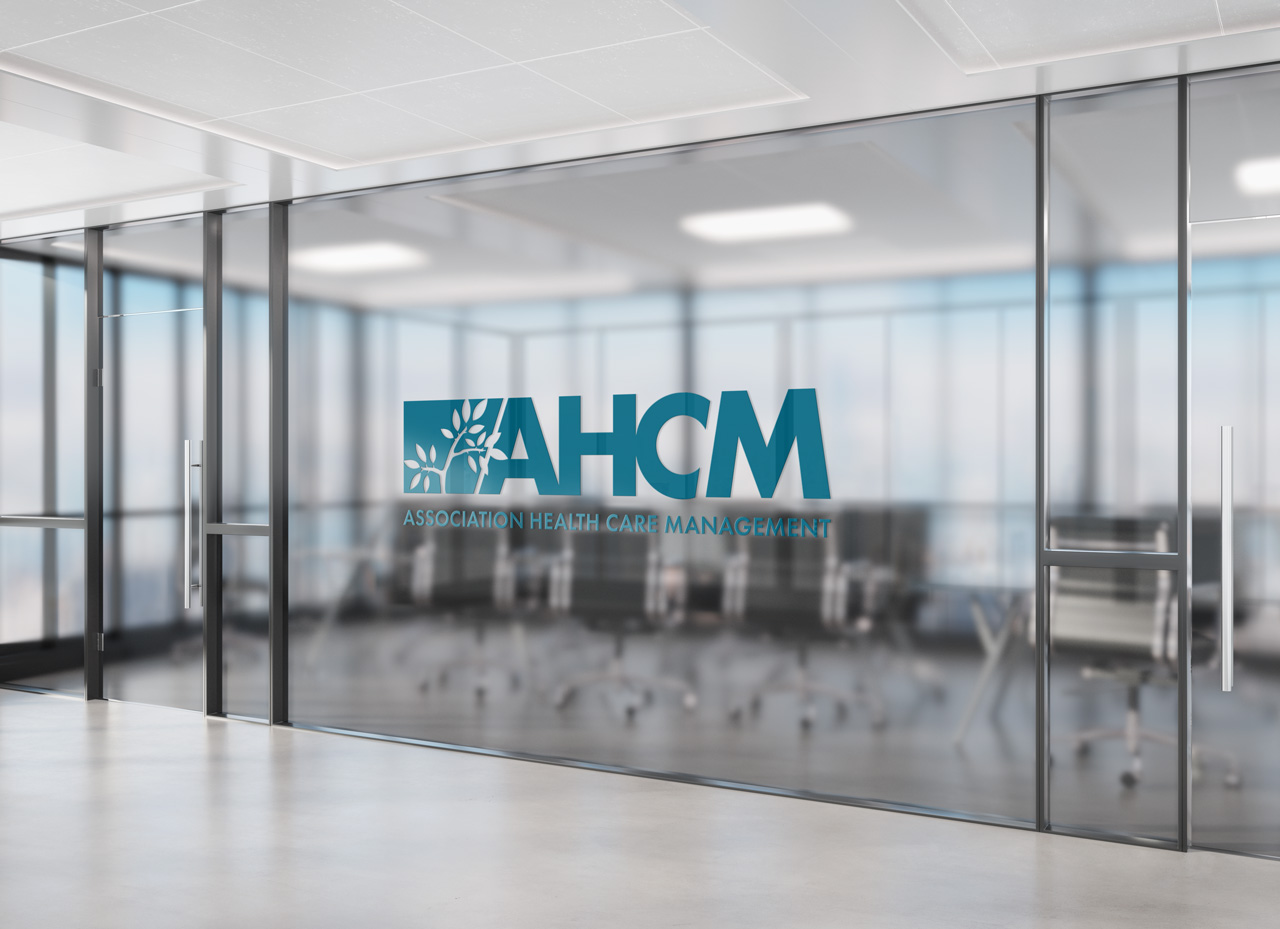 project ahcm logo office wall