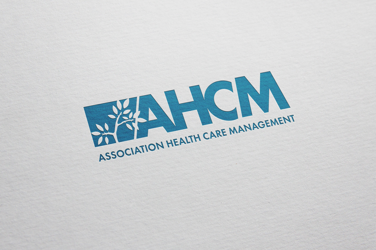 project ahcm logo on paper
