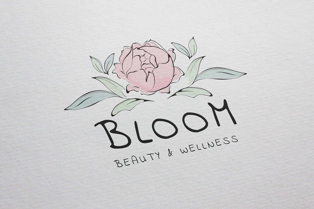 project bloom logo on paper