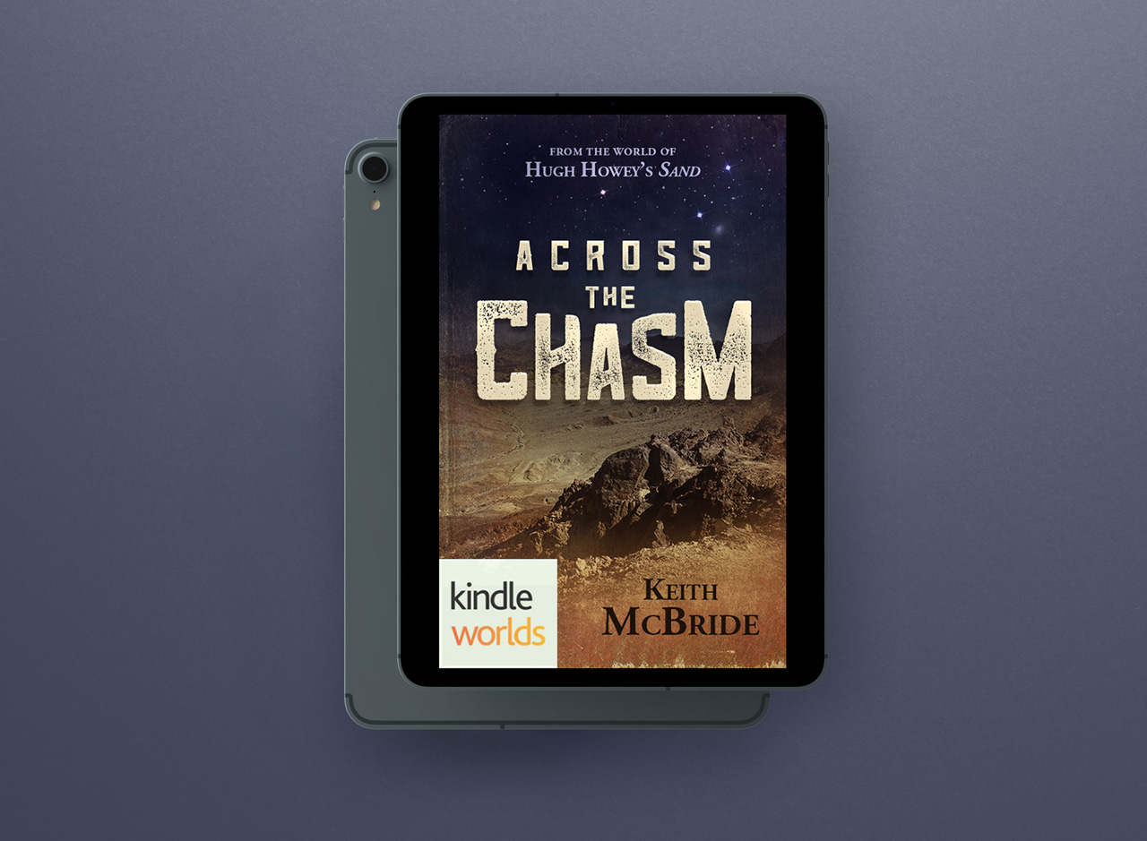 project book covers across the chasm on tablet