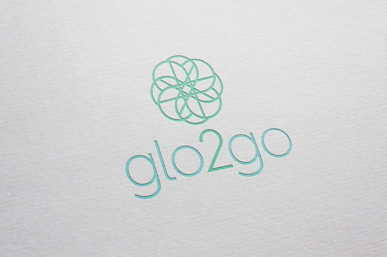 project glo2go logo on paper