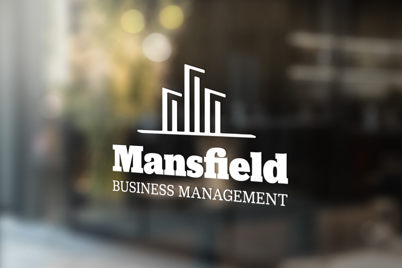 project mansfield logo on glass store