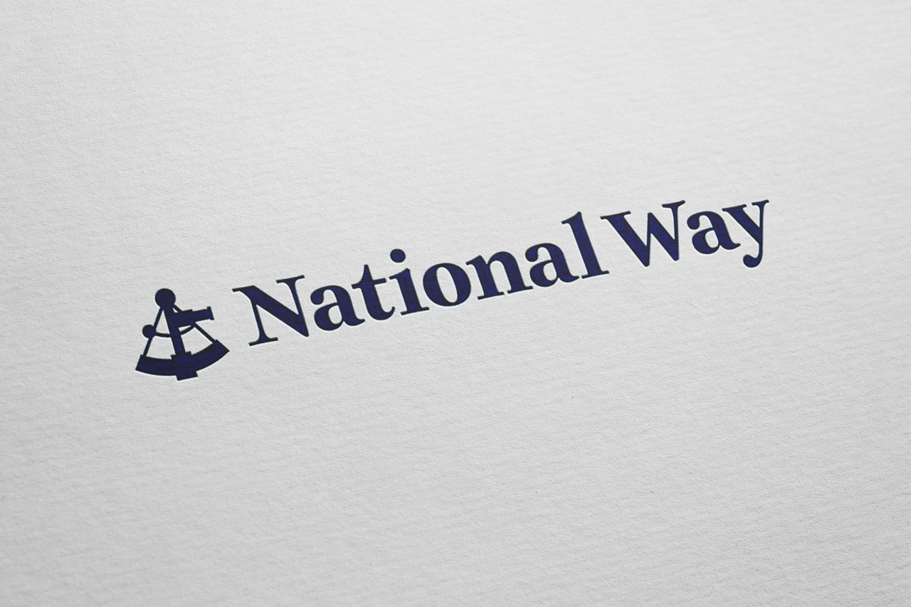 project nationalway logo on paper