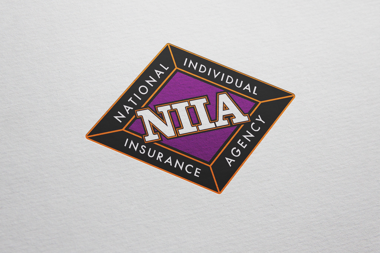 project niia logo on paper